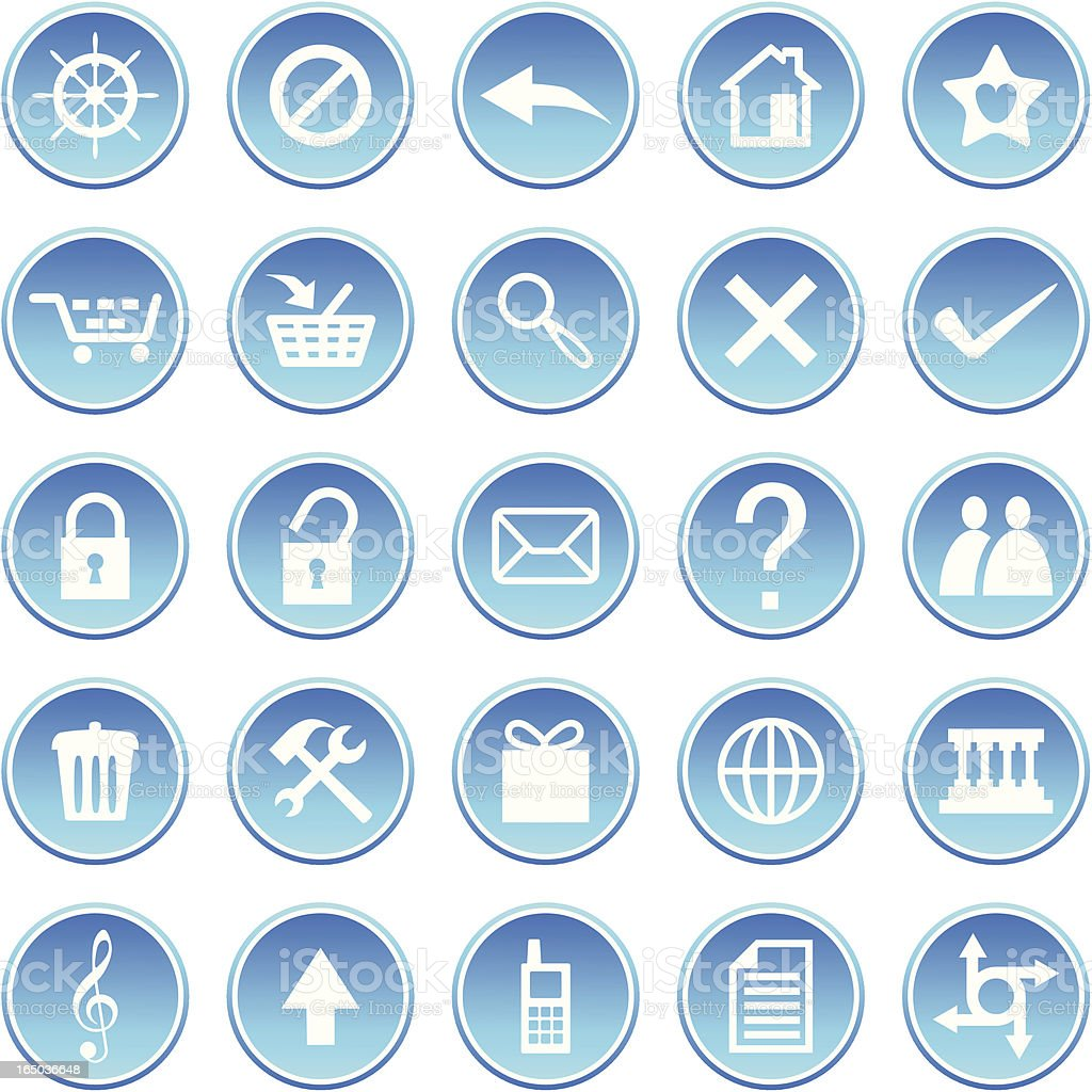 Icon set 005 royalty-free stock vector art