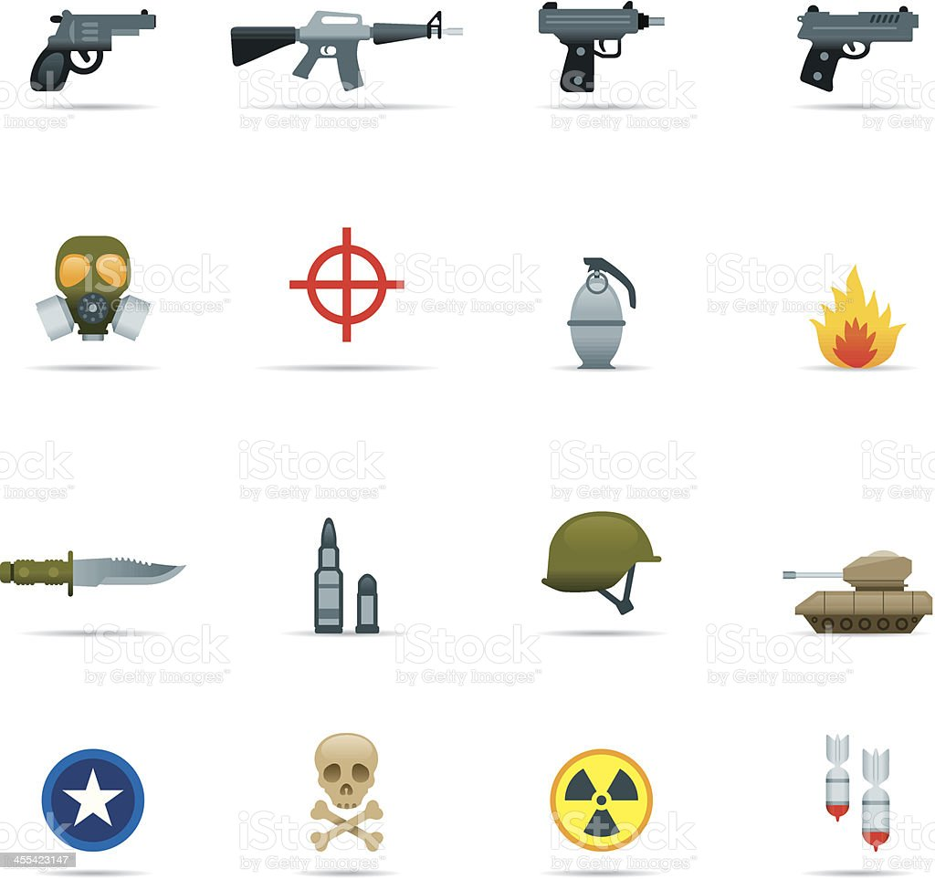 Icon set, Army Color royalty-free stock vector art