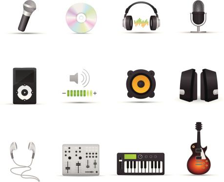 Icon Set - Audio Devices