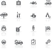 Icon Set, Auto Service things on white background, made in adobe Illustrator (vector)