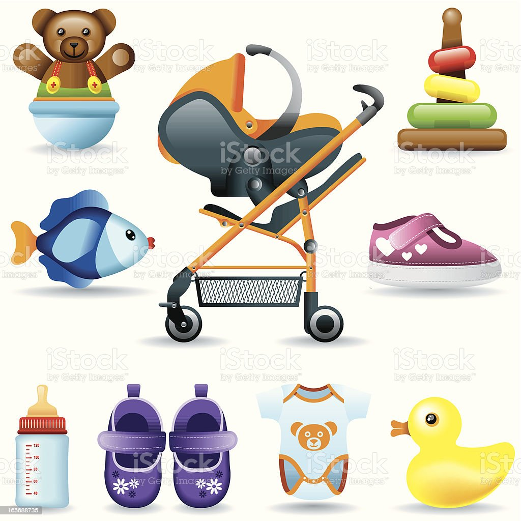 Icon Set, babies royalty-free icon set babies stock vector art & more images of 0-11 months