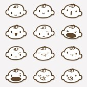 Icon Set - Baby Face ( Emoticons )