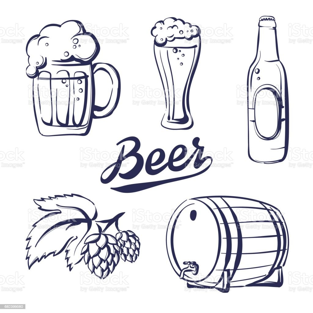 icon set beer royalty-free icon set beer stock vector art & more images of alcohol