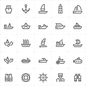 Icon set – boat and ship vector illustration
