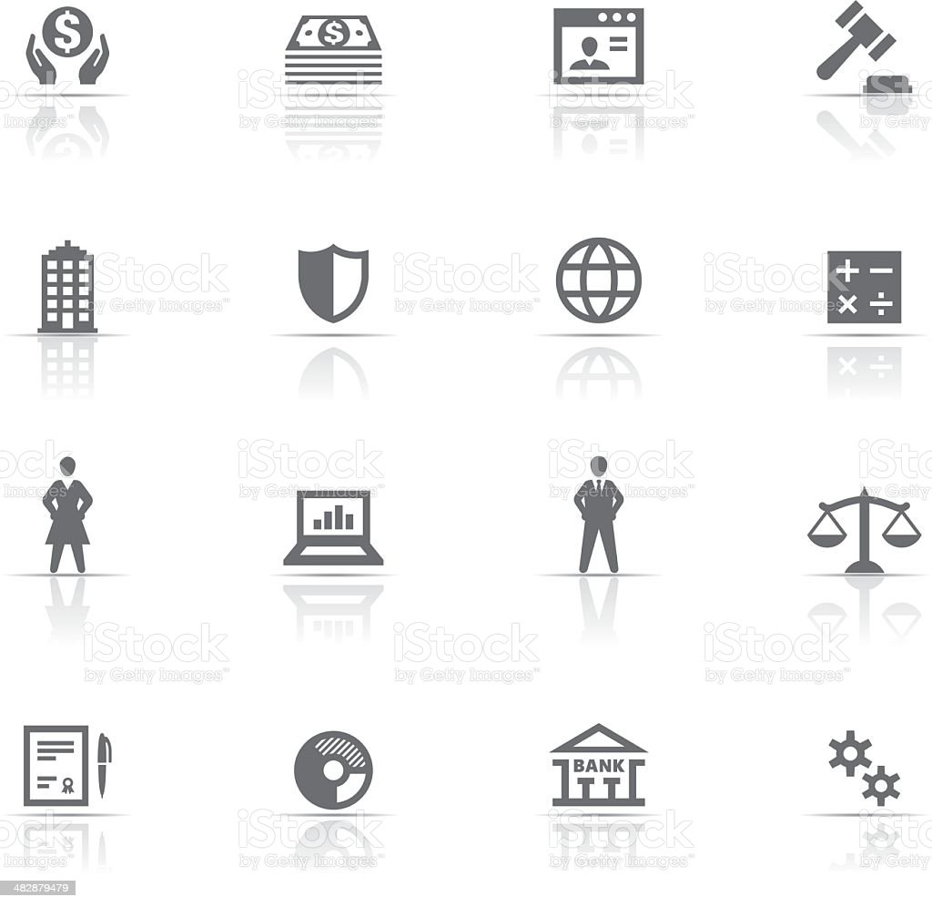 Icon Set, business royalty-free stock vector art