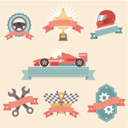 Icon Set, Car Race Concepts