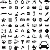 Icon Set Car Service