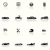Icon Set, Cars and Mechanics background, make in adobe Illustrator (vector)