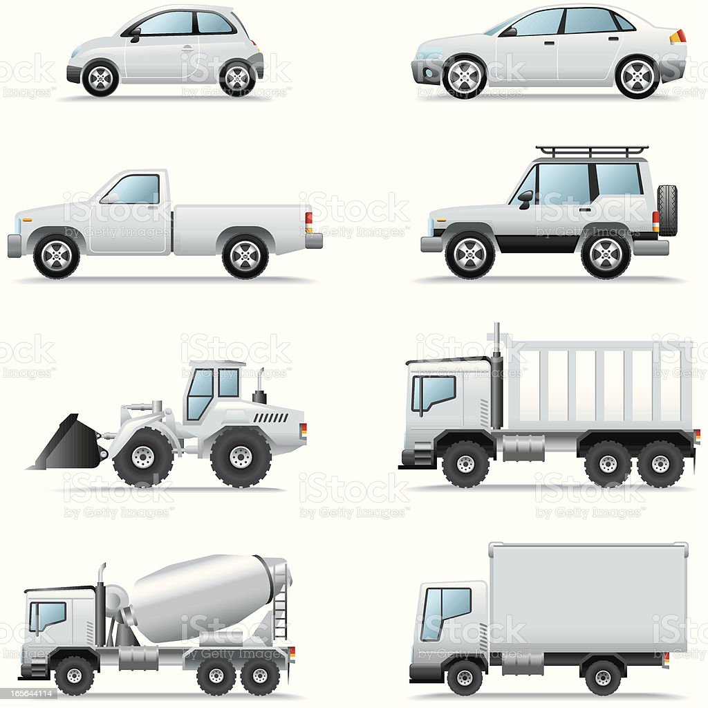 Icon Set, Cars and Trucks royalty-free icon set cars and trucks stock vector art & more images of 4x4