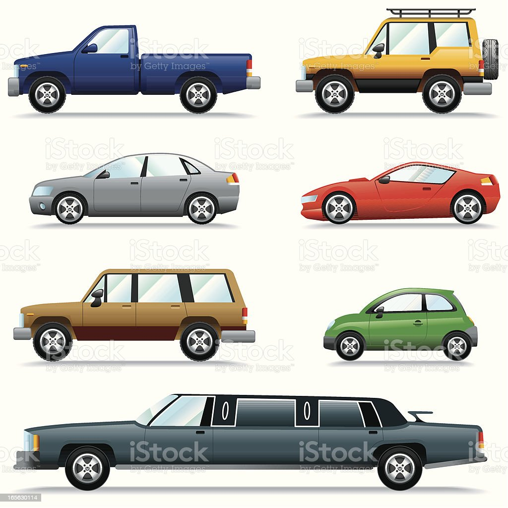 Icon Set, Cars royalty-free stock vector art