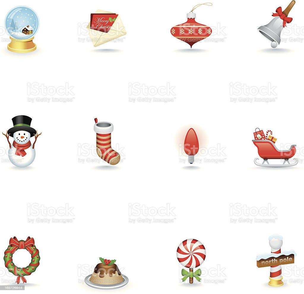 Icon Set, Christmas royalty-free stock vector art