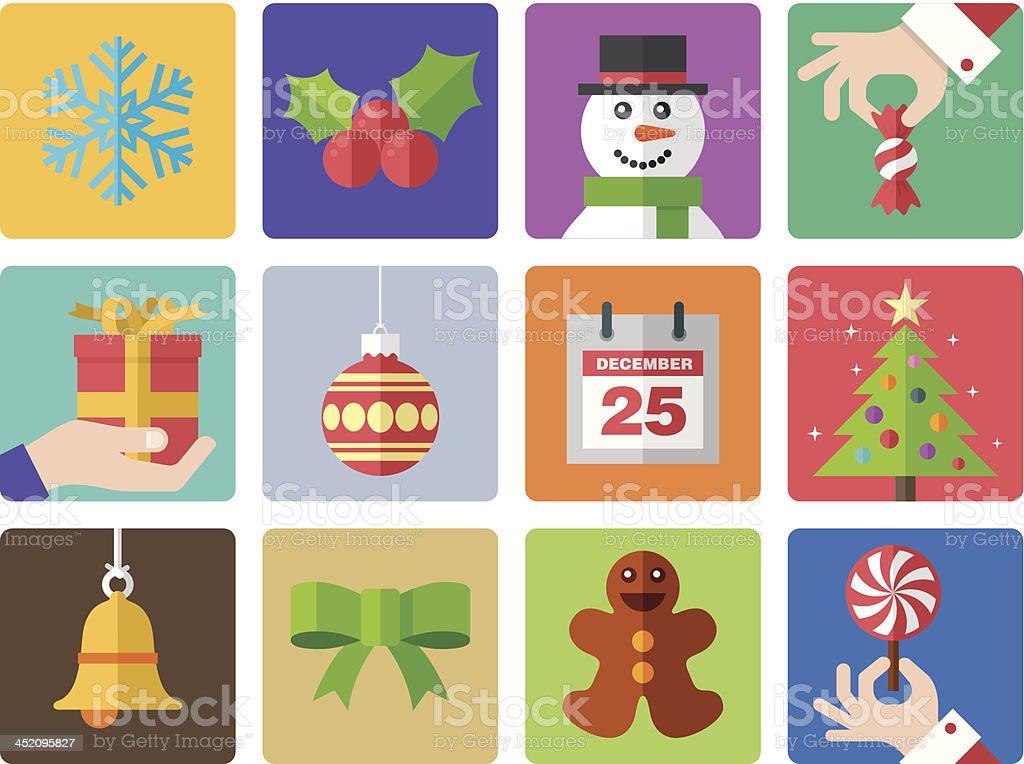 Icon set, Christmas royalty-free icon set christmas stock vector art & more images of bag