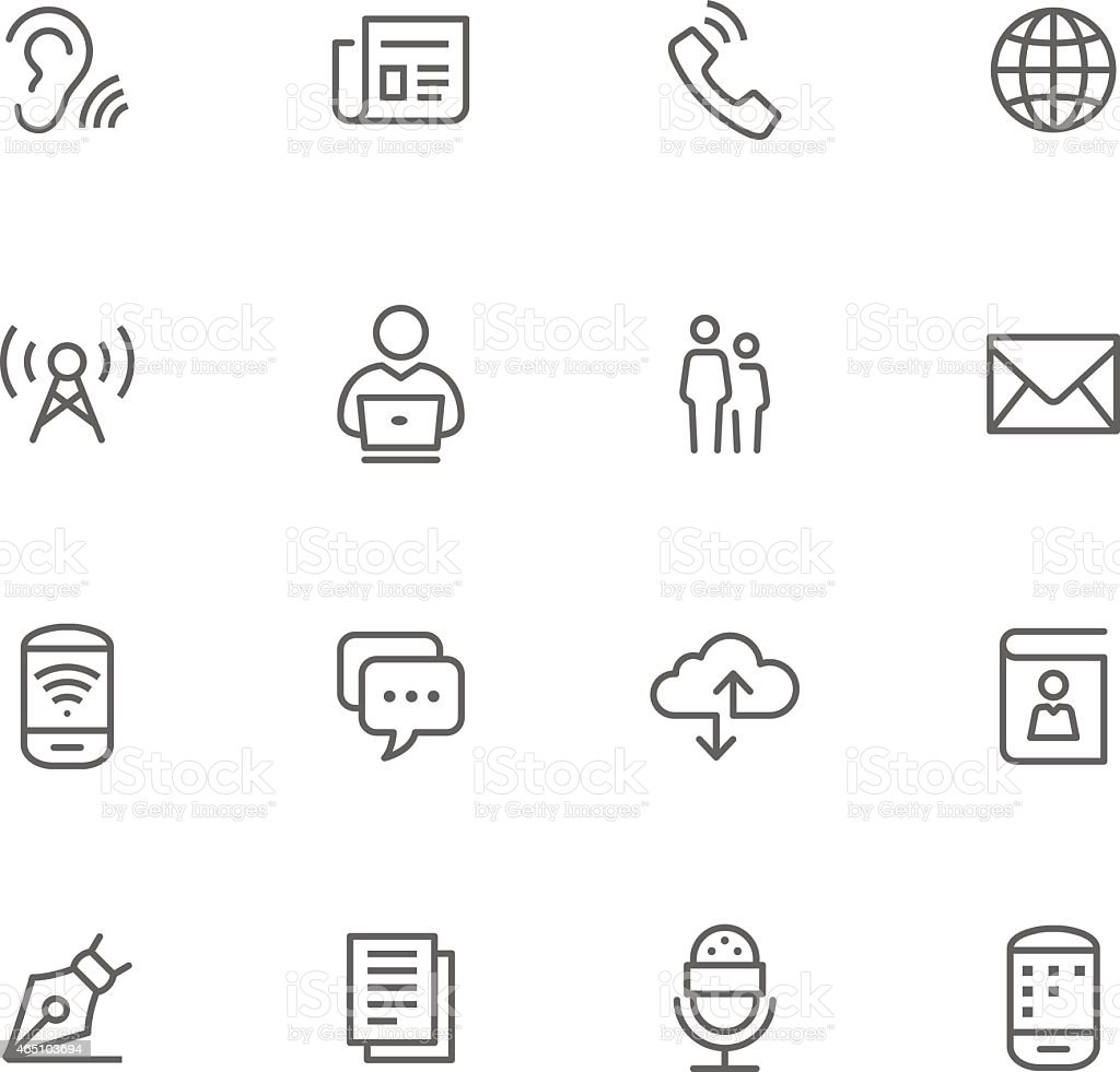 Icon Set, Comunication vector art illustration