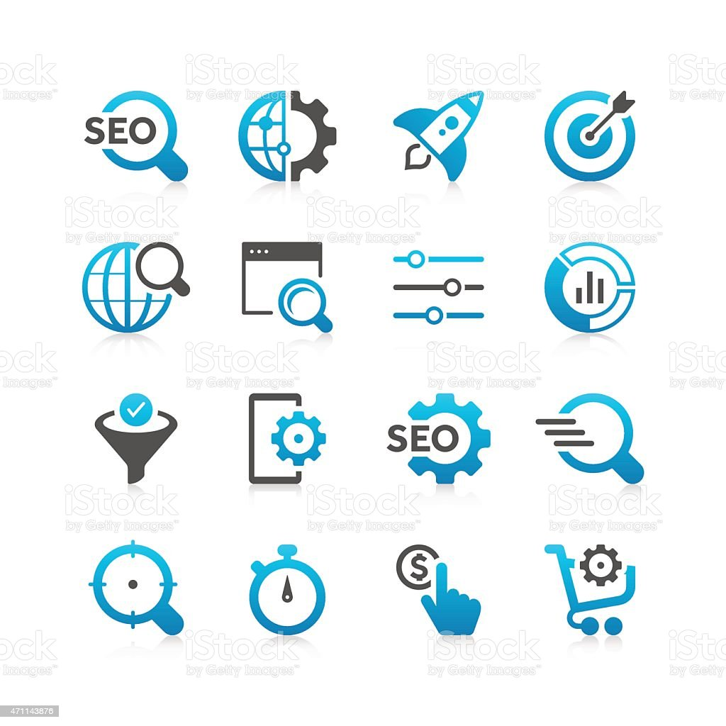 SEO Icon Set | Concise Series vector art illustration