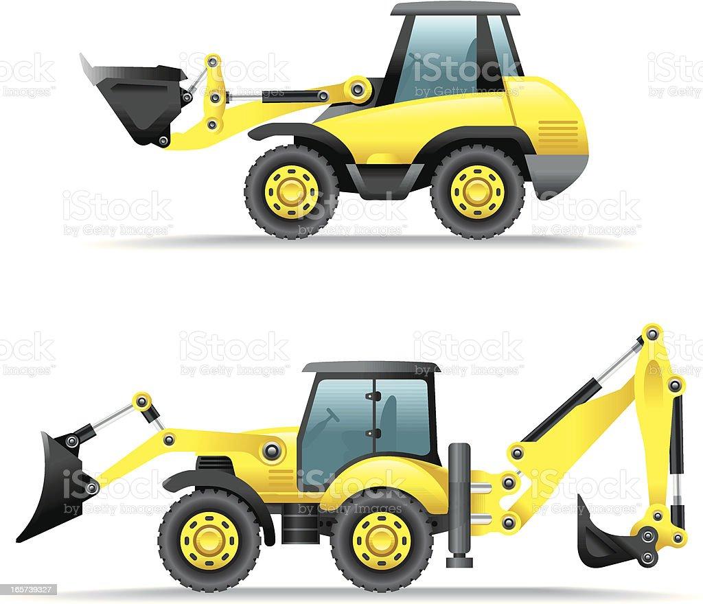 Icon Set, Construction Machines vector art illustration