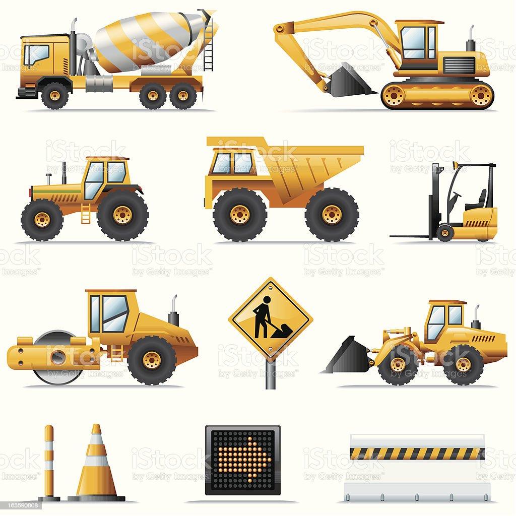 Icon Set, Construction vector art illustration