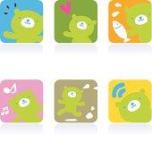 Cute style vector icons - Cute Bear.