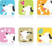 Cute style vector icons - Cute Dog.