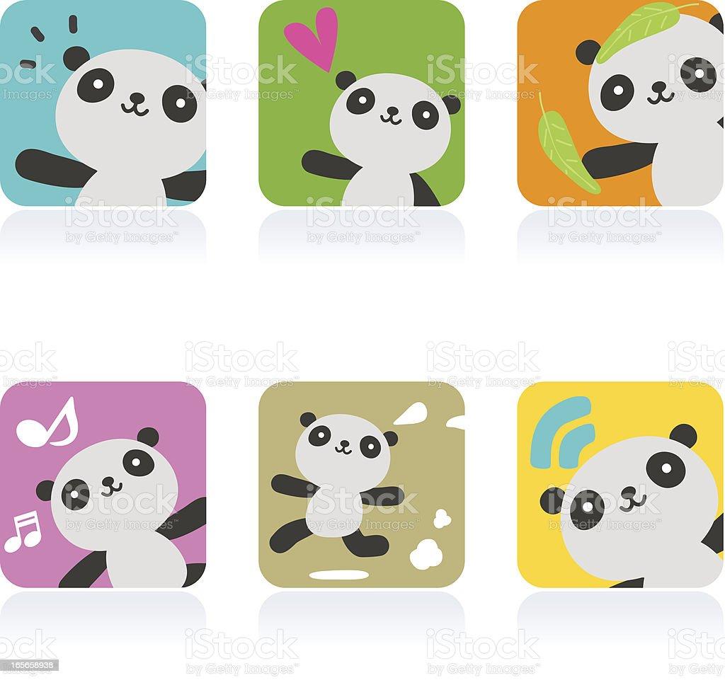 アイコンセットemoticons かわいいパンダ のイラスト素材 165658938