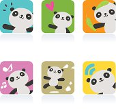 Cute style vector icons - Cute Panda.