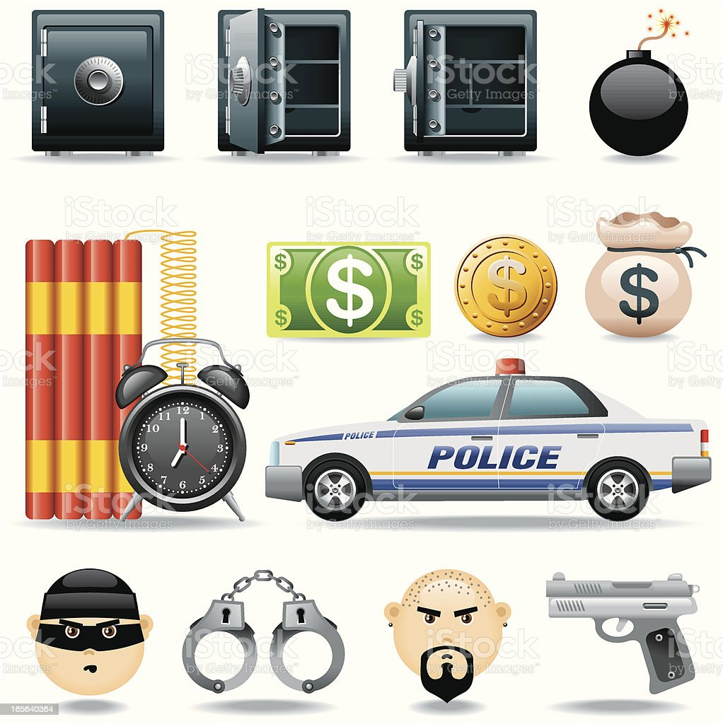 Icon Set, Delinquency royalty-free icon set delinquency stock vector art & more images of adult