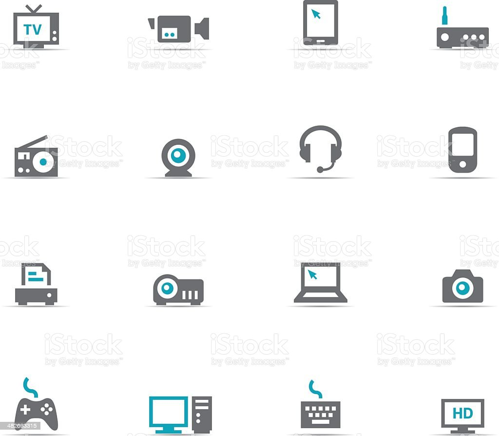 Icon Set, devices royalty-free icon set devices stock vector art & more images of arts culture and entertainment