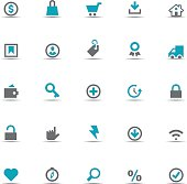 Icon Set, eCommerce items on white background, made in adobe Illustrator (vector)