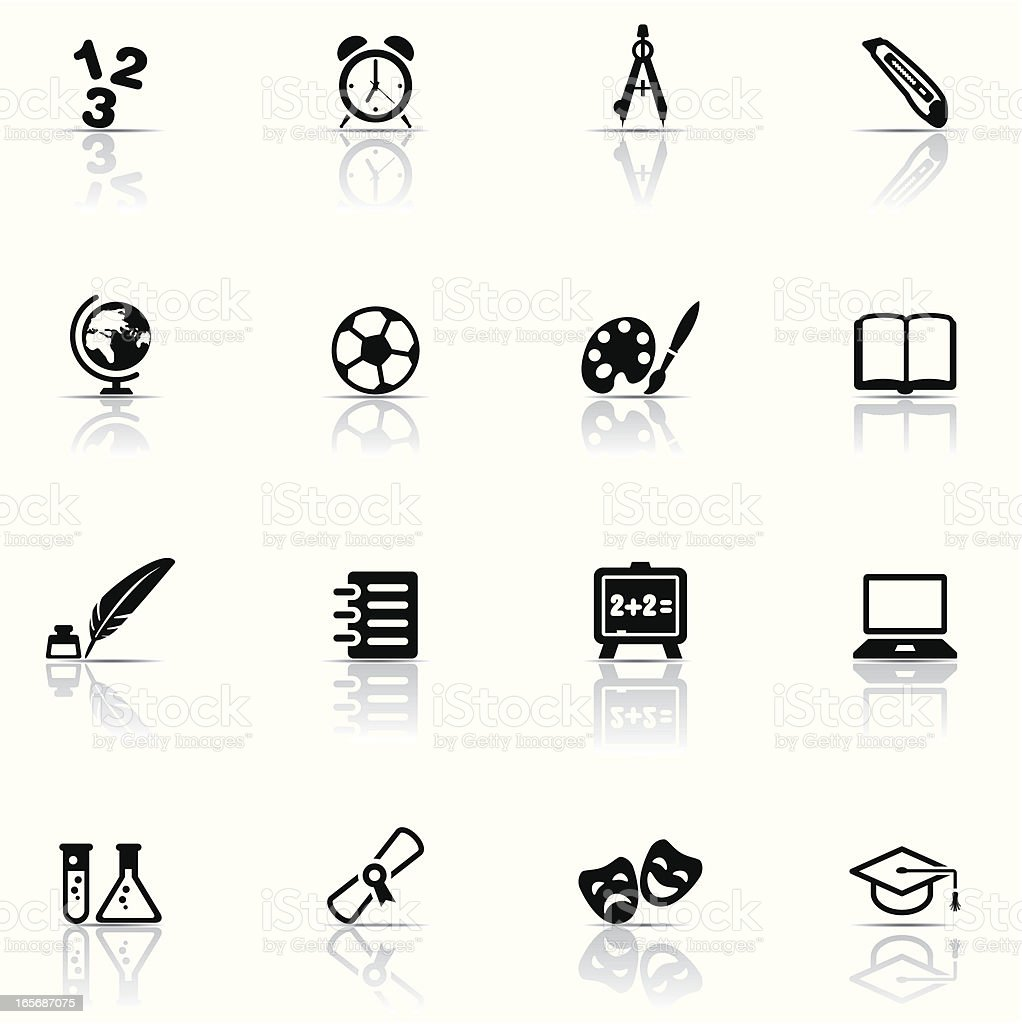 Icon-Set, Bildung – Vektorgrafik