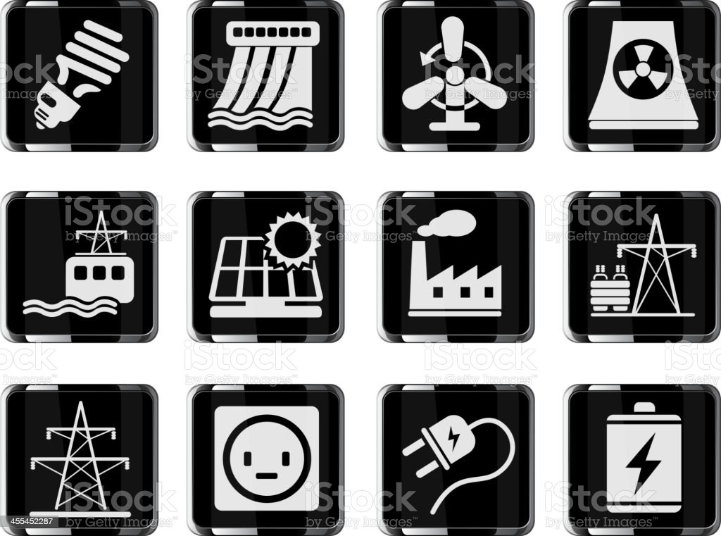 Icon Set, Energy and Industry royalty-free icon set energy and industry stock vector art & more images of alternative energy