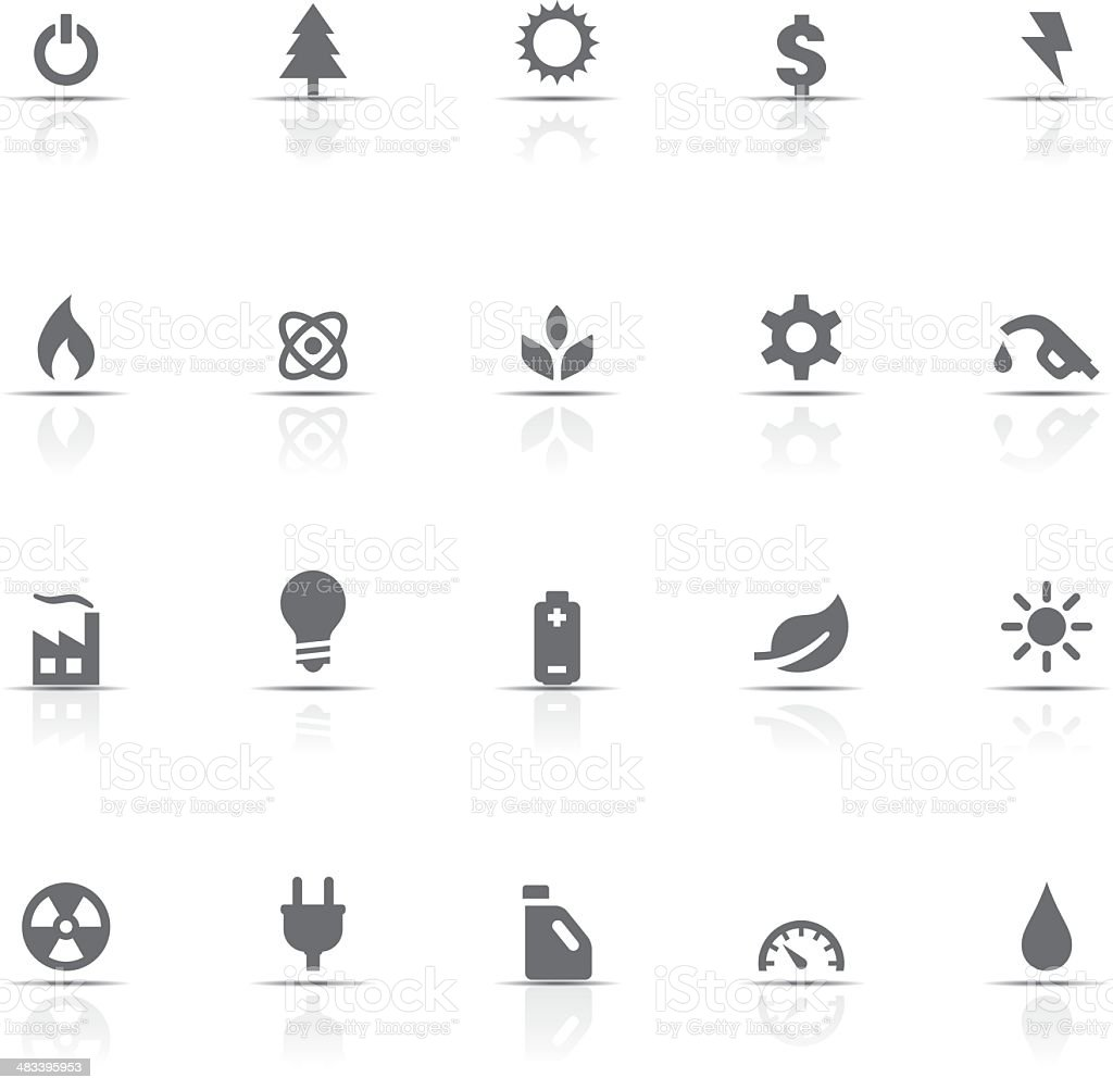 Icon Set, Energy and Industry royalty-free stock vector art
