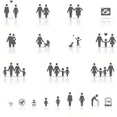 Icon Set, Family and Life on white background, made in adobe Illustrator (vector)