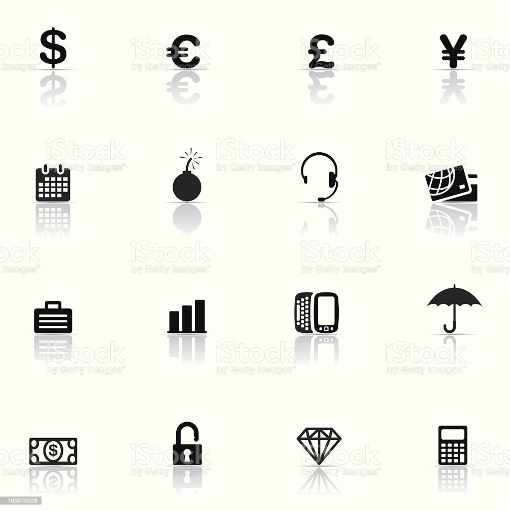 Icon set, Finance royalty-free icon set finance stock vector art & more images of banking