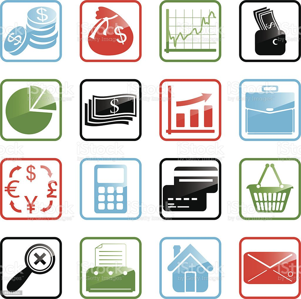 Icon set Finance royalty-free icon set finance stock vector art & more images of briefcase