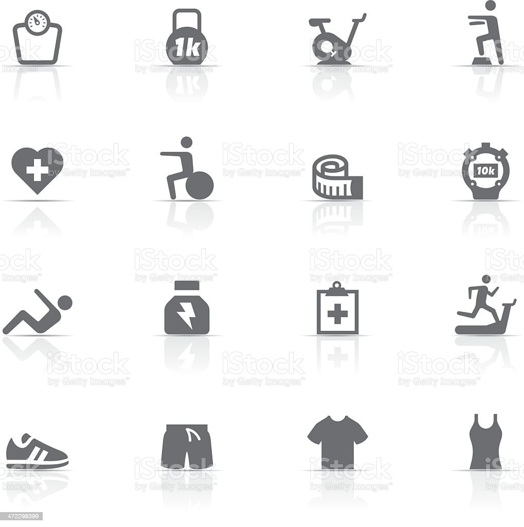Icon Set, Fitness and gym vector art illustration
