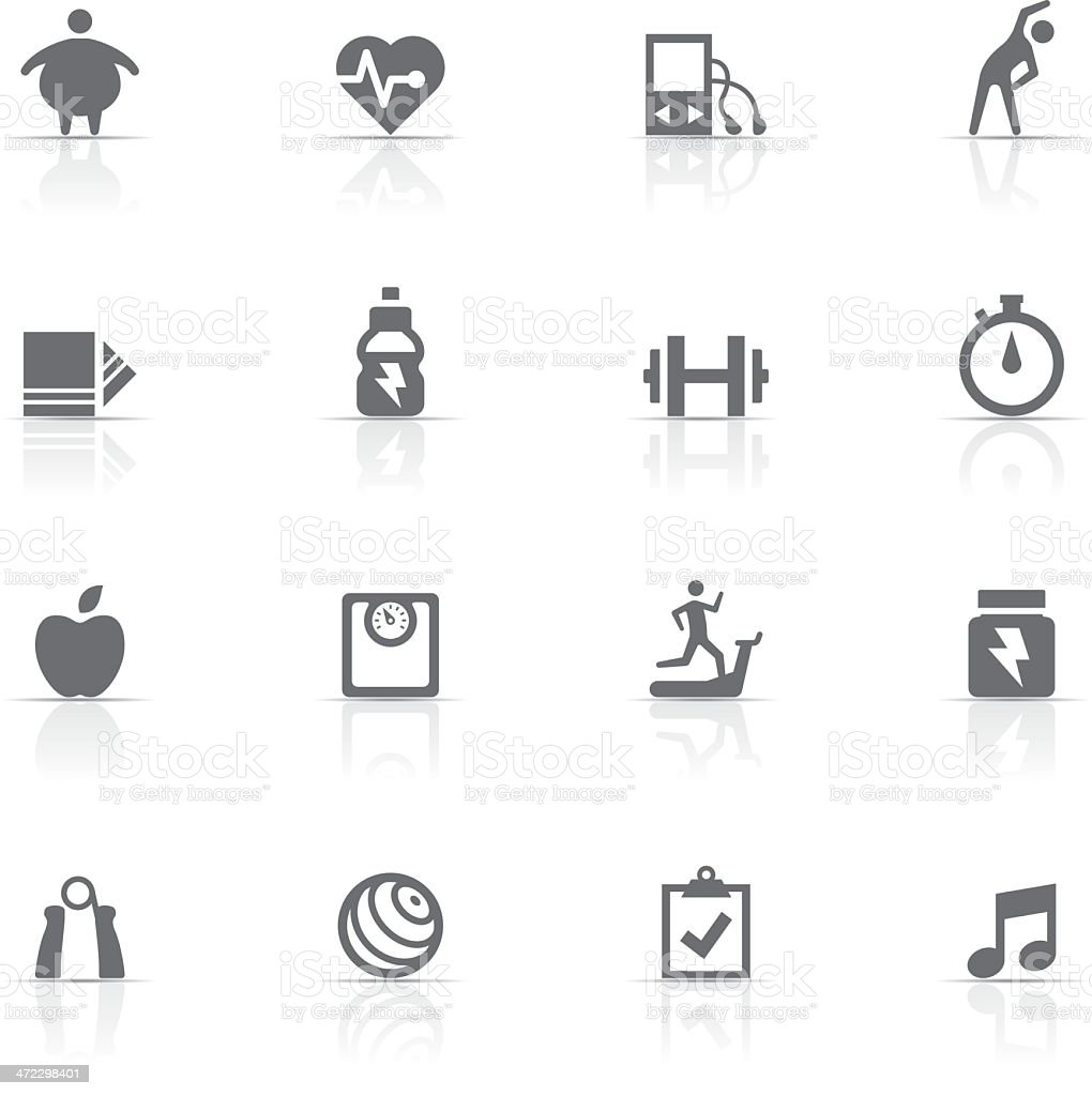 Icon Set, Fitness and gym royalty-free stock vector art