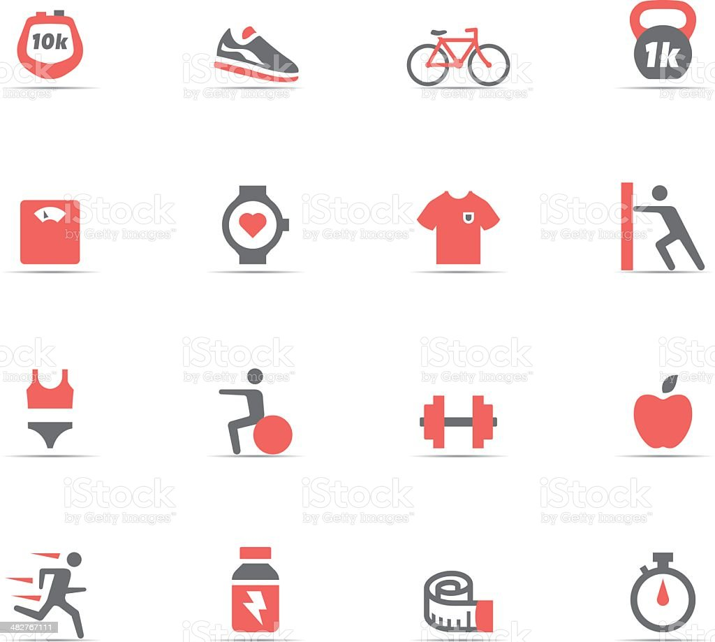 Icon Set, Fitness and gym royalty-free icon set fitness and gym stock vector art & more images of abdominal muscle