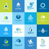 Icon set for different seals of approvals of water