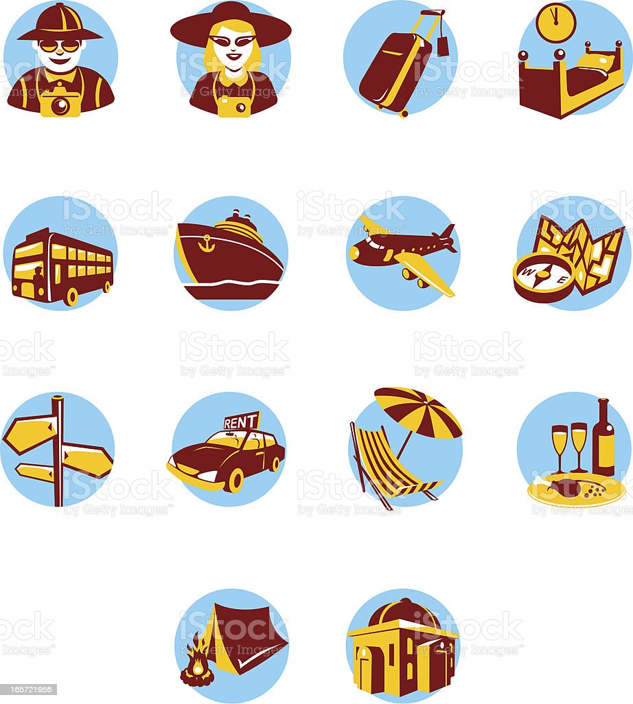 Icon Set for tourism royalty-free icon set for tourism stock vector art & more images of adult