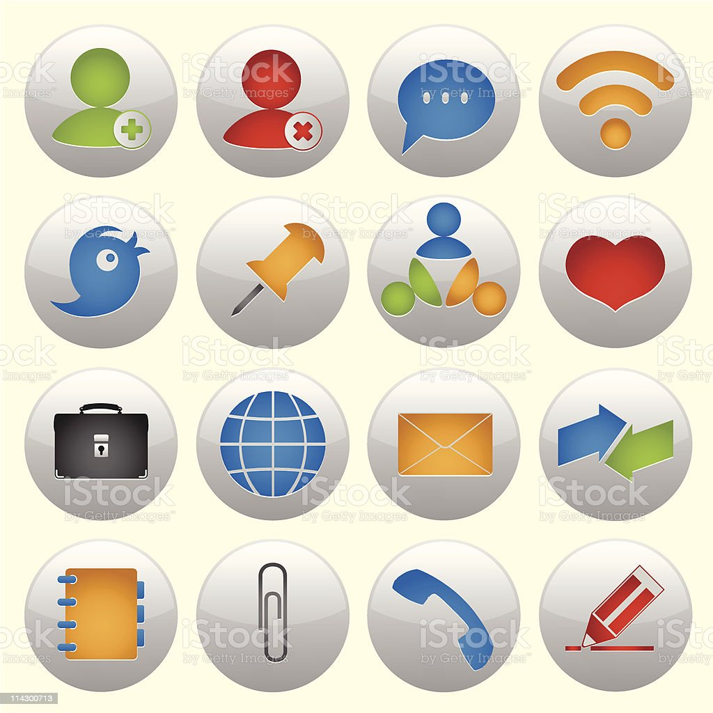 Icon set for web design #1 royalty-free stock vector art