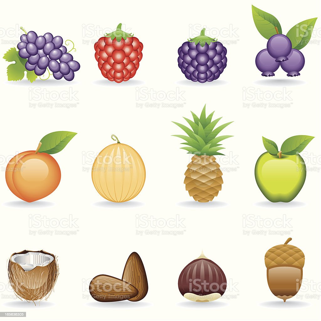 Icon Set, Fruits royalty-free stock vector art