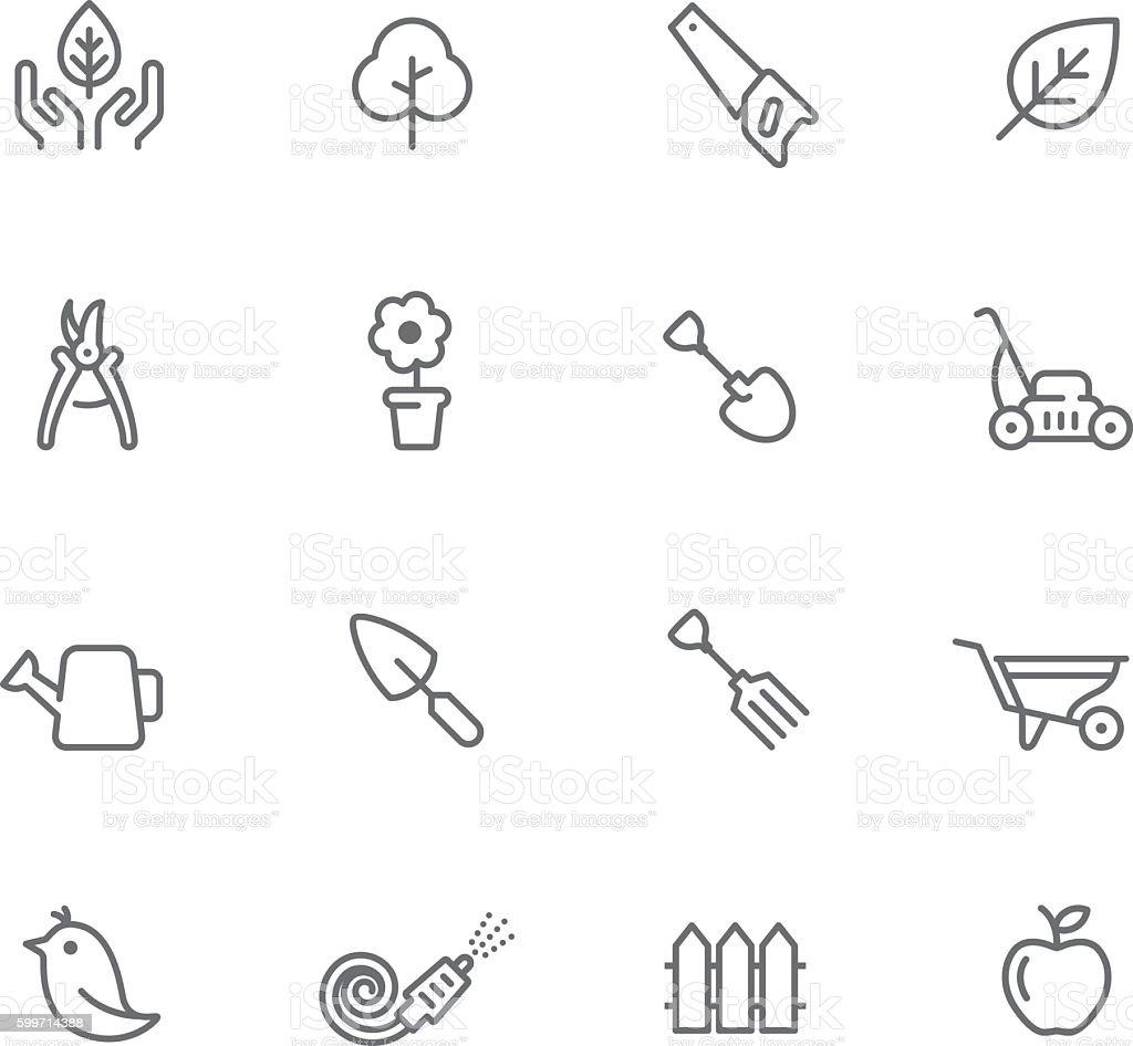 Icon Set, Gardening