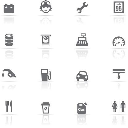 Icon Set, Gas Station