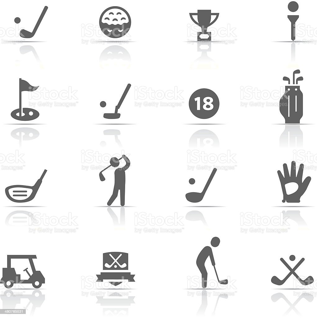 Icon Set, Golf vector art illustration
