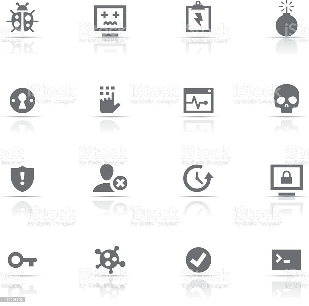 Icon Set, Hacking and security royalty-free stock vector art