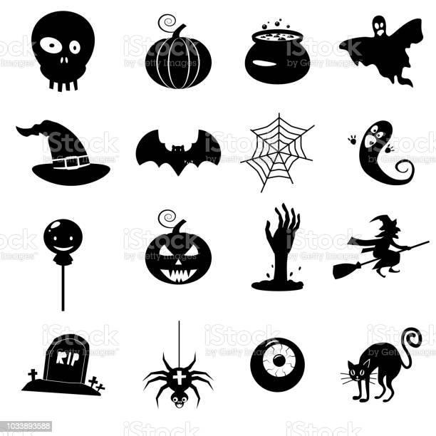 Icon set helloween witch hat vector grim reaper scary face pumpkin vector id1033893588?b=1&k=6&m=1033893588&s=612x612&h=dq 3dxgxrjjhab knvoh1ujyhxzpbozilst5boipg5a=