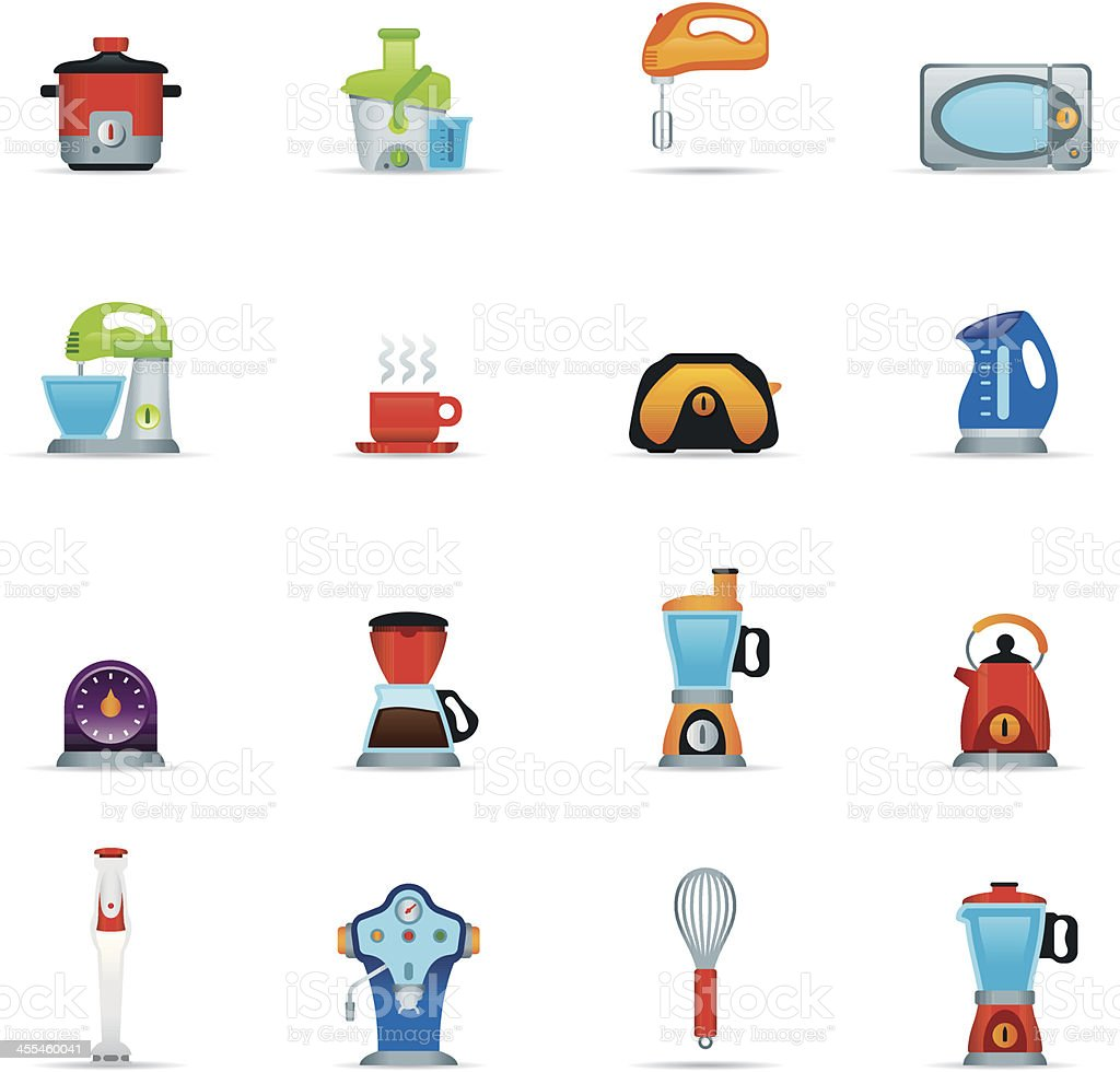 Icon Set, Kitchen Appliance Color royalty-free stock vector art