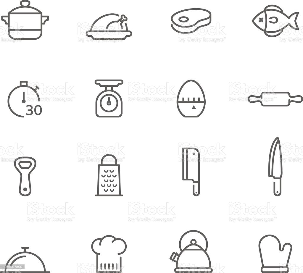 Icon Set, Kitchen vector art illustration