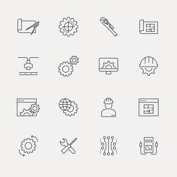 ilustraciones, imágenes clip art, dibujos animados e iconos de stock de conjunto de iconos - serie - amperímetro