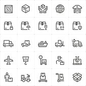 Icon set - logistic and delivery vector illustration