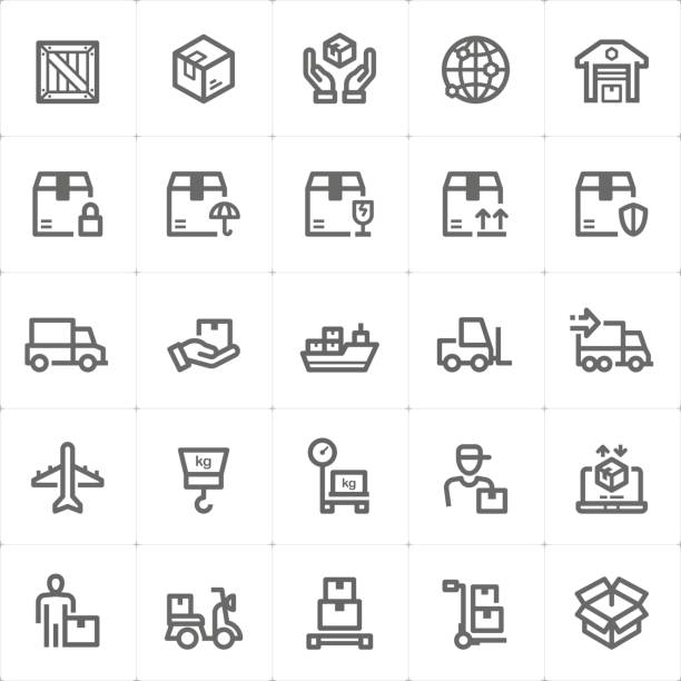 Jeu d'icônes - logistique et livraison vector illustration - Illustration vectorielle